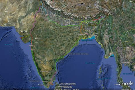 googl earth maps map the great circular indian railway challenge