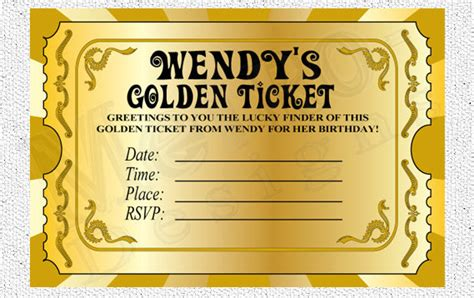 Golden Ticket Invitation Template 301 moved permanently