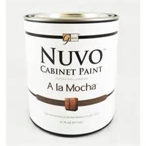 nuvo cabinet paint a la mocha nuvo cabinet paint quot a la mocha quot individual quart