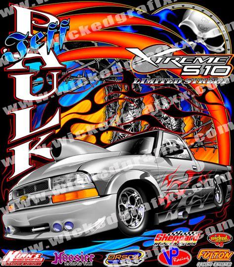 T Shirt Tamiya Custom Team grafixx single car drag racing competition t