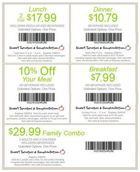 printable restaurant coupons honolulu 17 best images about souplantation coupons on pinterest