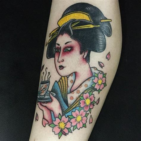 tattoo geisha old school 70 colorful japanese geisha tattoos meanings and