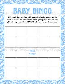baby shower bingo cards template printable blue damask baby shower bingo bee busy