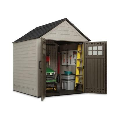 rubbermaid 7 ft x 7 ft big max storage shed with