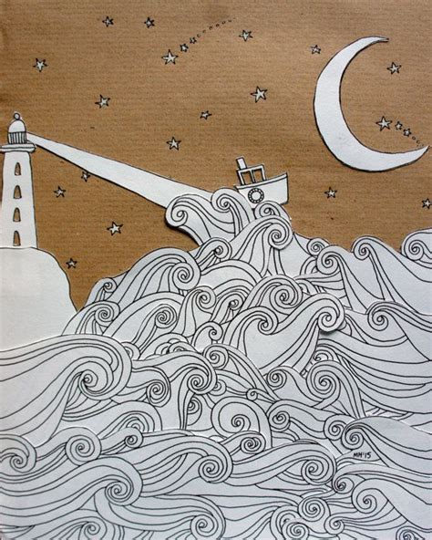 boat crashing drawing best 25 sea illustration ideas on pinterest ocean