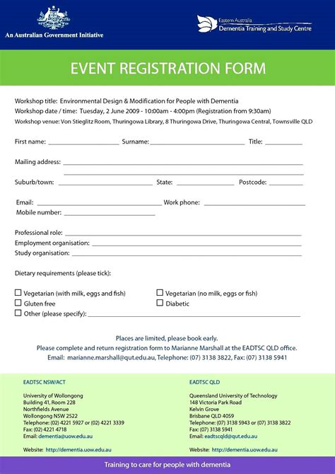 basic registration form template 8 best photos of simple registration form simple