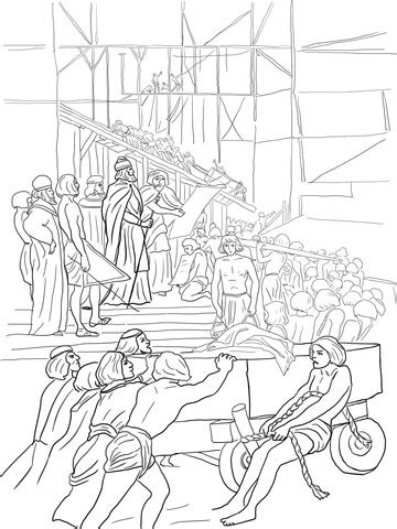king solomon builds  temple coloring page