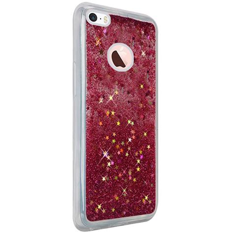 Glitter Pink Iphone 5 5s Softcase Softshell Water Aquarium for apple iphone 5 5s se liquid glitter shiny water design cover ebay