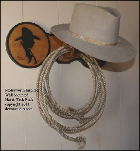 molesworth style western hat rack tack wall mounted carved