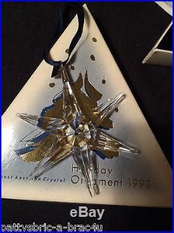 1993 mib swarovski crystal annual christmas ornament star