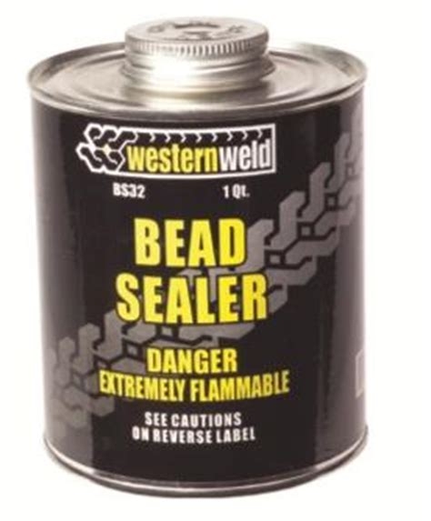 how to seal bead on tubeless tire western weld bs32 bead sealer 32 oz 1 qt tire wheel