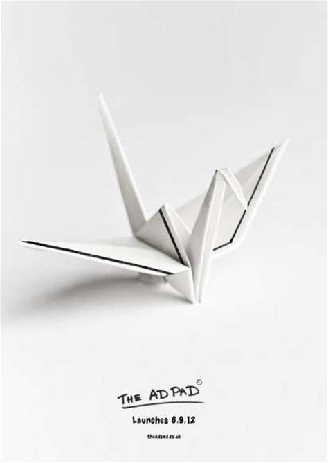 Origami Advertising - origami sketch paper ads the ad pad caign