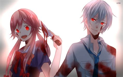 future diary aru and yuno future diary wallpaper