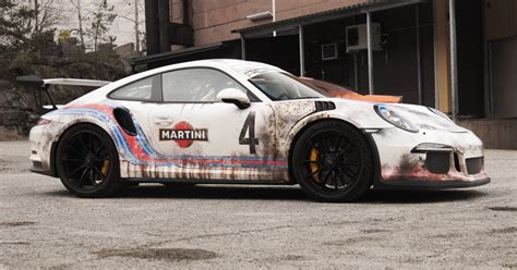Porsche 996 Martini Aufkleber by Weathered Rust Wrap Style Martini Porsche Gt3rs By Skepple