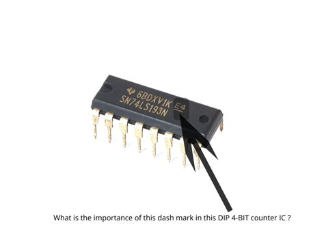 what does an integrated circuit do in a computer integrated circuit what does this dash in a dip 4 bit counter ic indicate electrical
