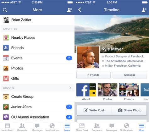 facebook themes ios facebook for ios updated with ios 7 look