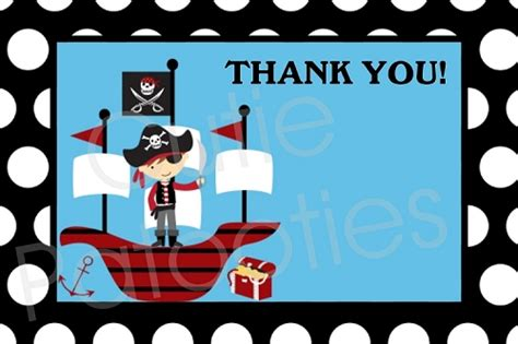 pirate thank you card template pirate thank you cards