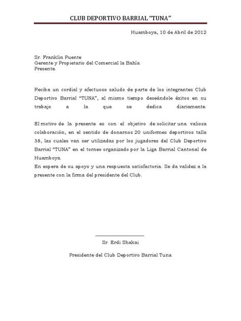 carta solicitud de notas solicitud para uniformes