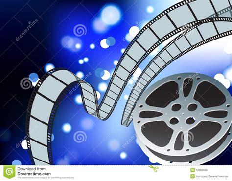 film blue wallpaper film reel blue glow internet background royalty free stock