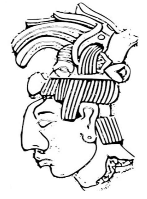 imagenes de mayas para colorear colorear rostro maya colorear mayas pintar un rostro