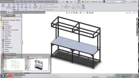 solidworks weldments tutorial 2d and 3d layout