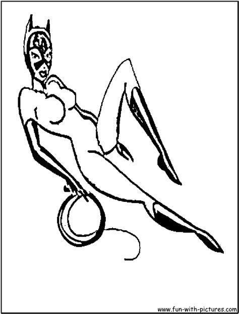 catwoman mask coloring pages coloring pages