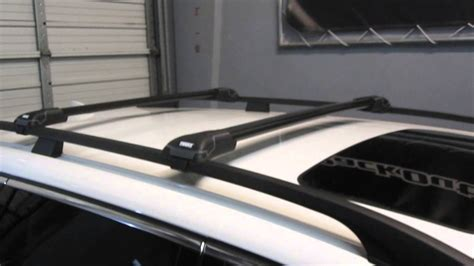 volvo xc  thule black aeroblade edge roof rack  rack outfitters youtube