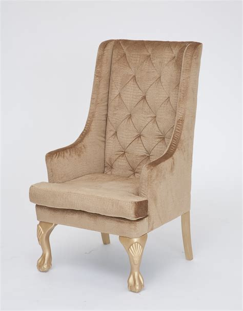Highback Chairs - gold high back wing chair n 252 age designs