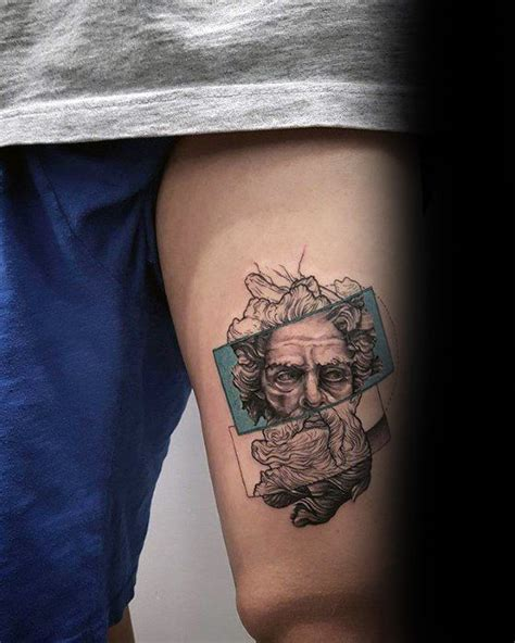 small tattoo on thigh 50 coolest small tattoos for manly mini design ideas