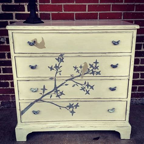 hand painted chest of drawers hand painted bernhardt chest of drawers bird art by