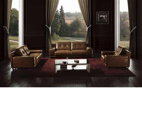 dreamfurniture bo3950 modern brown leather sofa set