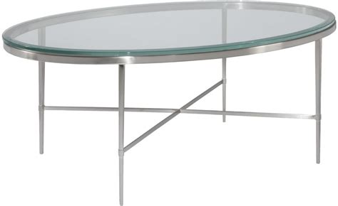 Oval Glass Coffee Table New Oval Coffee Cocktail Table Polished Nickel Beveled Glass Modern Ebay
