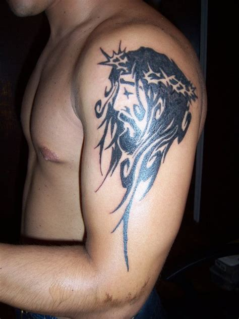 tribal christian tattoos jesus tattoos designs ideas and meaning tattoos for you