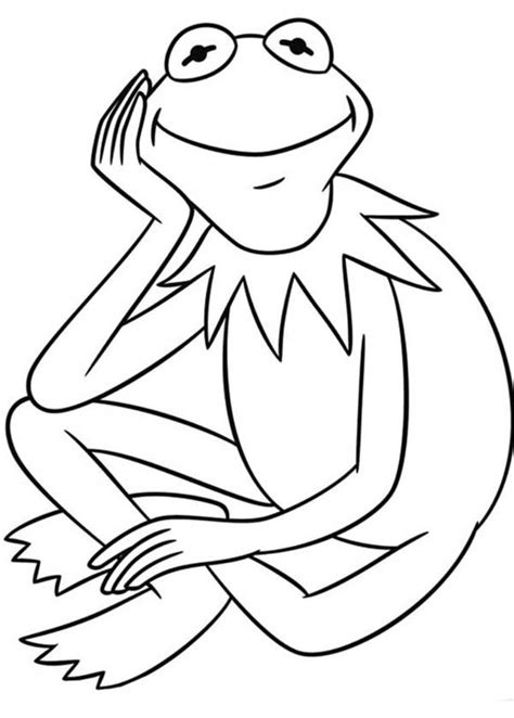 free coloring pages of kermit muppets