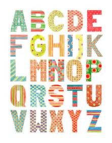 alphabet watercolor patterns uppercase by gb