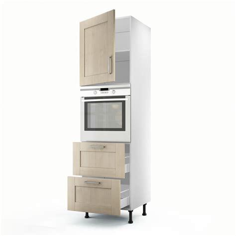 meuble colonne de cuisine meuble de cuisine colonne blanc 1 porte 2 tiroirs ines h