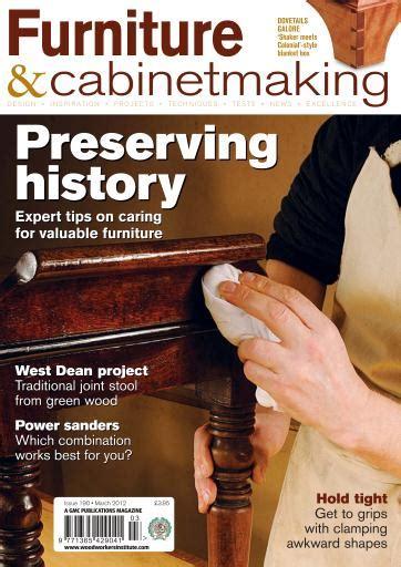 furniture cabinetmaking magazine march