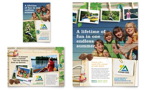 kids summer c flyer ad template word publisher