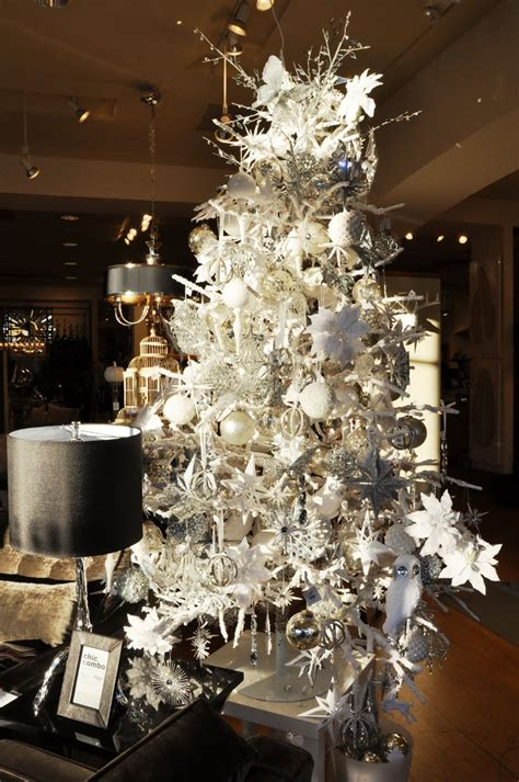 xmas tree decorating ideas with modern white xmas tree