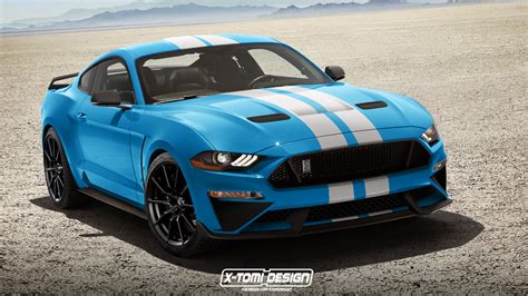 2018 shelby gt350 mustang rendered with facelift that won
