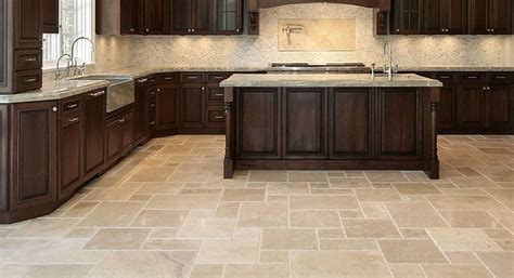 Kitchen Tile Floors Kitchen Floor Tile Designs For A Warm Kitchen To Traba Homes