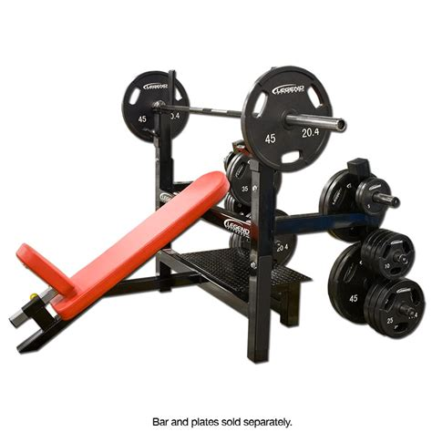 olympic incline bench press incline olympic bench press w plate storage legend fitness 3154