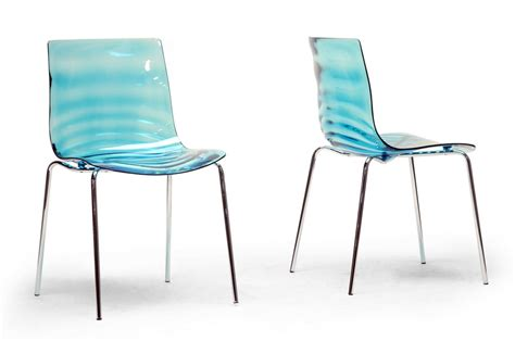 plastic dining room chairs marisse blue plastic modern dining chair affordable