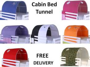 Wood Canopy Bedroom Sets cabin bed mid sleeper bunk loft tunnel tent only ebay