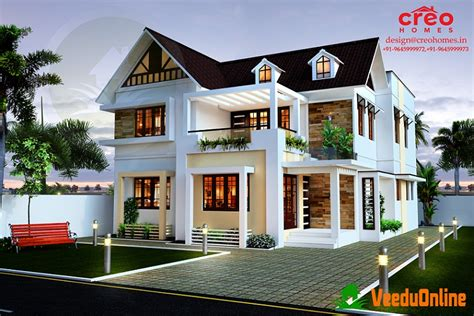 houses online highly advanced european style double floor design