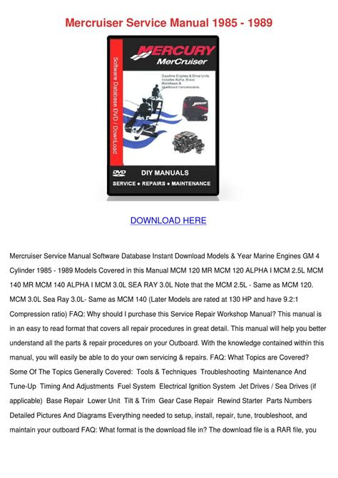 how to download repair manuals 1985 ford f series spare parts catalogs mercruiser service manual 1985 1989 by koreyhughes issuu