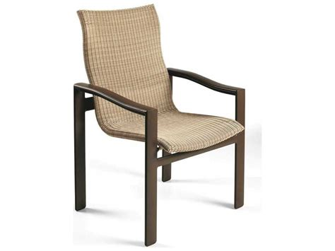 High Patio Chairs - winston belvedere woven aluminum high back dining chair