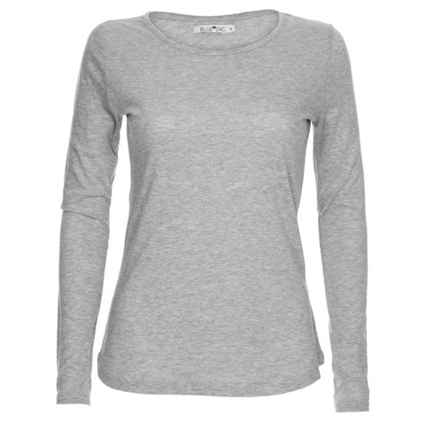 best grey women s grey marl long sleeve basic top