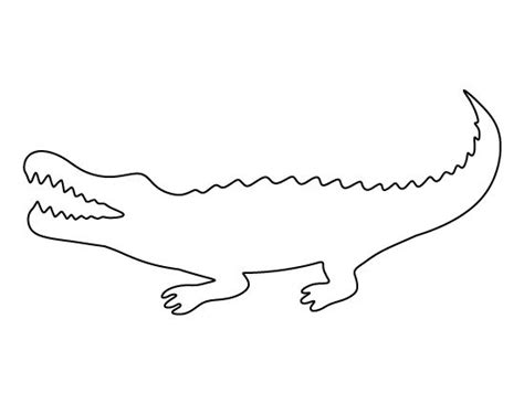 alligator template alligator pattern use the printable pattern for crafts