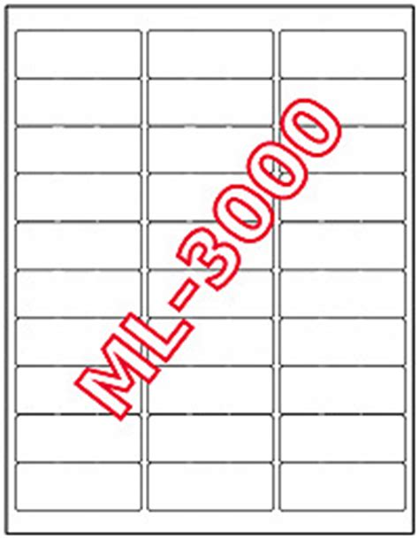 15000 Maco Ml 3000 Mailing Address Labels 2 5 8 Quot X 1 Quot 15965059000 Ebay Ml 3000 Label Template